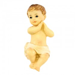Colored resin Baby Jesus with praying Hands 6.5 cm