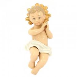 Gesù Bambino in porcellana lucida colorata 21 cm