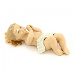 Colored Porcelain Baby Jesys 21 cm