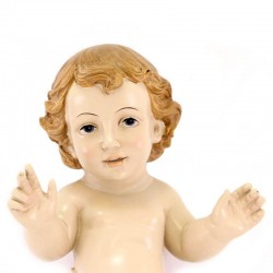 Colored Resin Baby Jesus Open Arms 30 cm