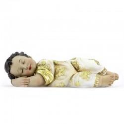 Resin Sleeping Baby Jesus Golden Vest 20 cm