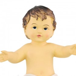 Resin Baby Jesus White Vest 13x18 cm