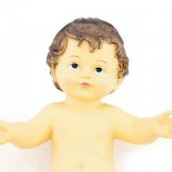 Resin Baby Jesus White Vest 19x26 cm