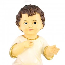 Resin Baby Jesus White Vest 18x35 cm
