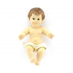 Gesù Bambino resina pannetto bianco 20x33 cm