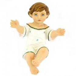 Gesù Bambino braccia aperte in resina siliconica 21 cm