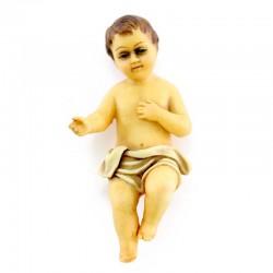 Gesù Bambino in resina colorata 6,5 cm