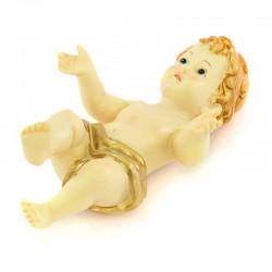 Baby Jesus resin gilded cloth 10.5 cm
