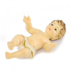 Baby Jesus with white cloth in resin 6,5 cm