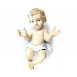 Gesù Bambino in porcellana lucida colorata 28 cm