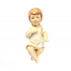 Gesù Bambino in porcellana opaca colorata 13 cm