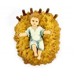 Gesù Bambino su paglia in pvc colorato 6x7 cm