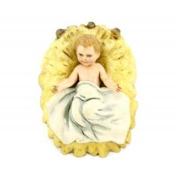 Gesù Bambino su paglia in pvc colorato 4x5,5 cm