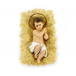 Gesù Bambino con culla in pvc culla 5x7,5 cm