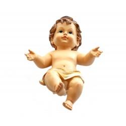 Gesù Bambino in resina colorata 15 cm
