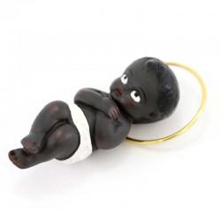 Black Plaster Baby Jesus Hands on Chest 6 cm