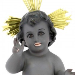 Black Plaster Baby Jesus 25 cm