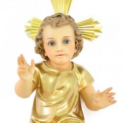 Wood Paste Baby Jesus Golden Vest 50 cm