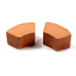 Mattone da pozzo per presepe in terracotta 2x4 cm pz 25