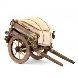 Cart with Sacks for Nativity Scene 10x18x8 cm