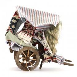 Cart for Carpet Seller for Nativity 16x17x8 cm