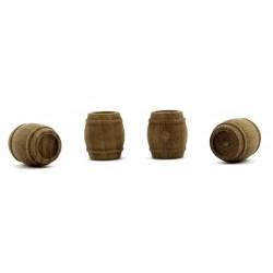 Botte in legno per presepe 1,5 cm Diametro 1,2 cm pz 4