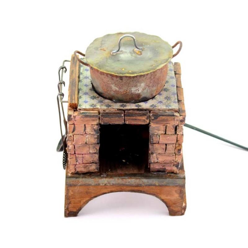 Cucina forno artigianale per presepe 13x20x11 cm - Forno per cucina componibile ...