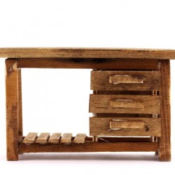 Wooden Working table for Nativity 16.5x10x6 cm