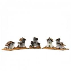 Casetta per presepe in cartoncino e legno 5,5x5 cm