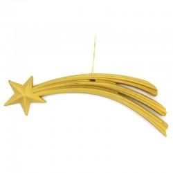 Stella Cometa in resina dorata 19 cm