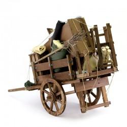 Wood Eviction Cart for Nativity Scene 58x39x22 cm
