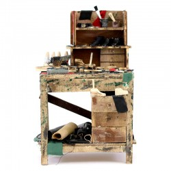 Banco ciabattino in legno per presepe 18x30x16 cm