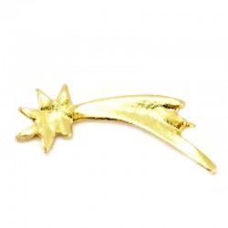 Stella Cometa miniatura in metallo dorato 2,5 cm