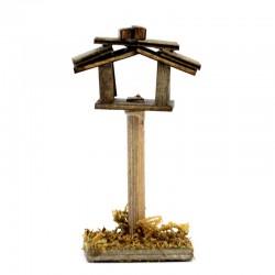 Casetta degli uccelli in legno per presepe 3,5x6,5x3 cm
