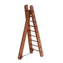 Scala a triangolo in legno per presepe 10 cm
