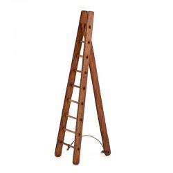 Scala a triangolo in legno per presepe 14 cm