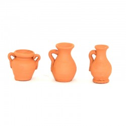 Anfora brocca e giara in terracotta 3 cm