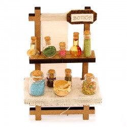 Pharmacy counter with containers 10.5x16 cm