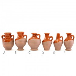 Anfore e brocche rustiche in terracotta smaltata 7 cm