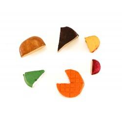 Formaggi assortiti in resina confezione 6 pezzi 2 cm