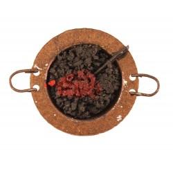Braciere in metallo per presepe Diametro 4 cm