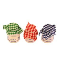 Set of 3 glass jars for jams 2 cm