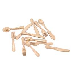 Set of 12 metal cutlery for nativity scene 2 cm