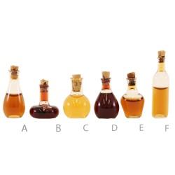 Bottiglia di vino in vetro miniatura per presepe 3 cm
