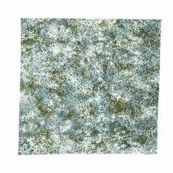 Aqua green mouldable for nativity scene 35x35 cm