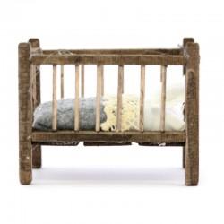 Wooden cradle for Baby Jesus 5,5x6,5x8 cm