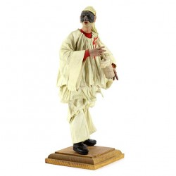 1700 Neapolitan style Pulcinella with Clothing 18 cm