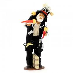 Gobbo in terracotta vestita con accessori 14 cm