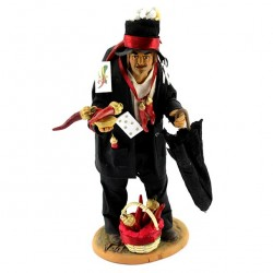 Terracotta Hunchback with Clothing and Accessories 23 cm