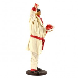 Terracotta Pulcinella with Clothing with Spaghetti 18 cm